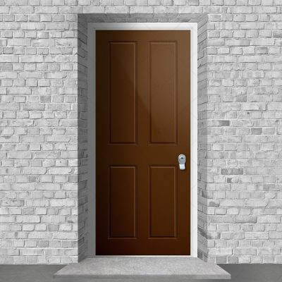 Victorian 4 Panel Clay Brown Ral 8003 By Fort Security Doors Uk