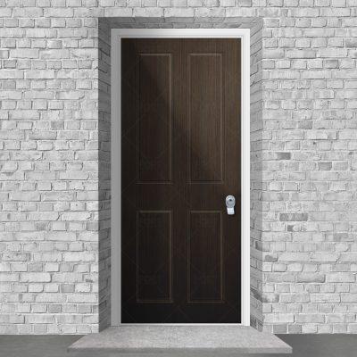 Victorian 4 Panel Dark Oak By Fort Security Doors Uk