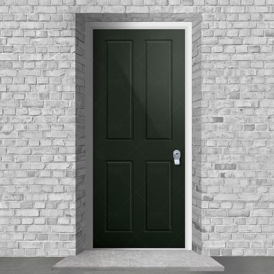 Victorian 4 Panel Fir Green Ral 6009 By Fort Security Doors Uk