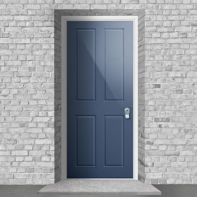 Victorian 4 Panel Pigeon Blue Ral 5014 By Fort Security Doors Uk