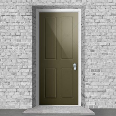 Victorian 4 Panel Reed Green Ral 6013 By Fort Security Doors Uk