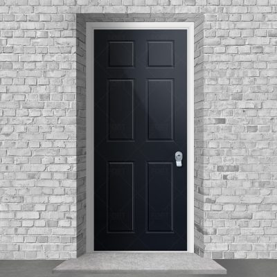 Victorian 6 Panel Anthracite Grey Ral 7016 By Fort Security Doors Uk