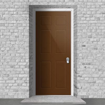 Victorian 6 Panel Clay Brown Ral 8003 By Fort Security Doors Uk
