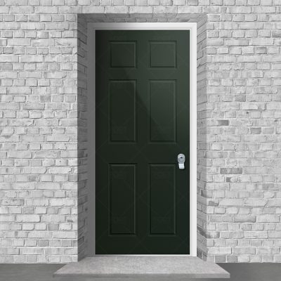 Victorian 6 Panel Fir Green Ral 6009 By Fort Security Doors Uk