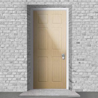 Victorian 6 Panel Oak By Fort Security Doors Uk