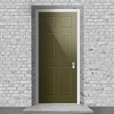 Victorian 6 Panel Reed Green Ral 6013 By Fort Security Doors Uk