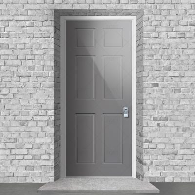 Victorian 6 Panel Signal Grey Ral 7004 By Fort Security Doors Uk