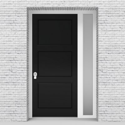 6.single Door With Right Side Panel Edwardian Jet Black (ral9005)
