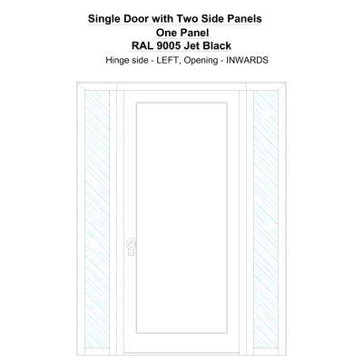 Sd2sp One Panel Ral 9005 Jet Black Security Door