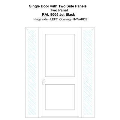 Sd2sp Two Panel Ral 9005 Jet Black Security Door