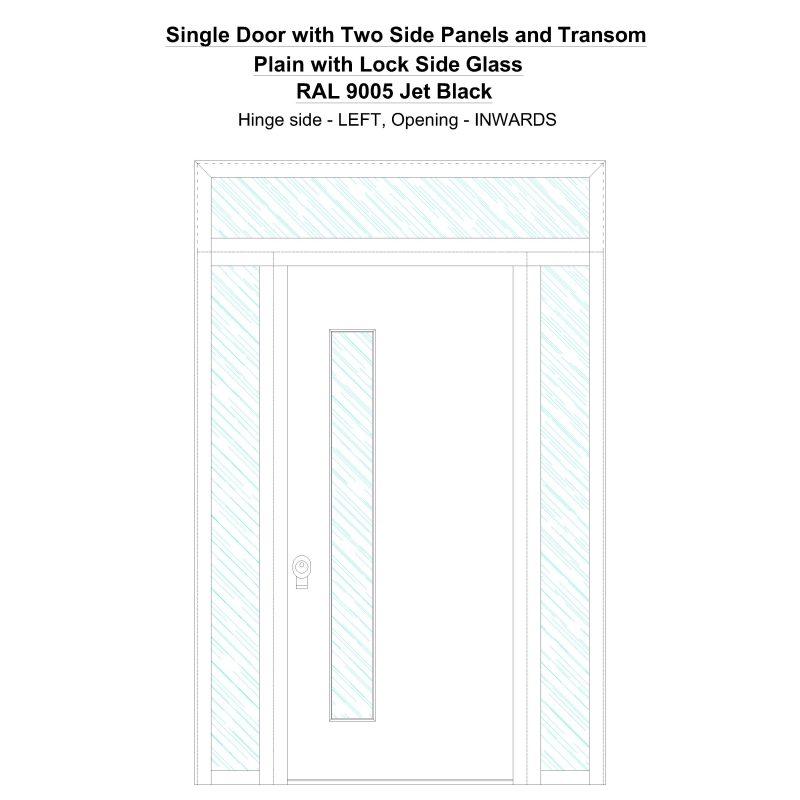 Sd2spt Plain With Lock Side Ral 9005 Jet Black Security Door