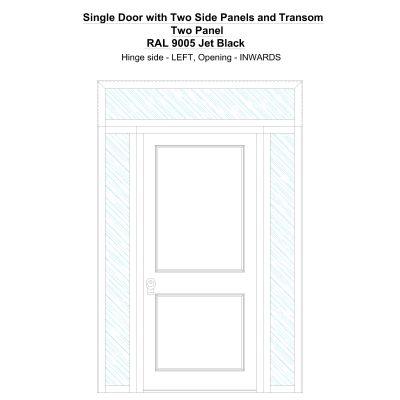 Sd2spt Two Panel Ral 9005 Jet Black Security Door