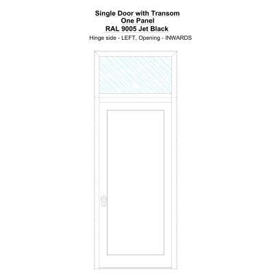 Sdt One Panel Ral 9005 Jet Black Security Door