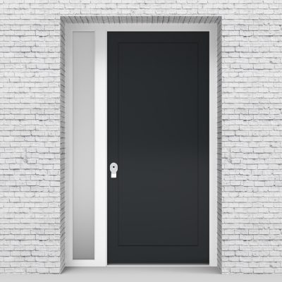14.single Door With Left Side Panel One Panel Anthracite Grey (ral7016)