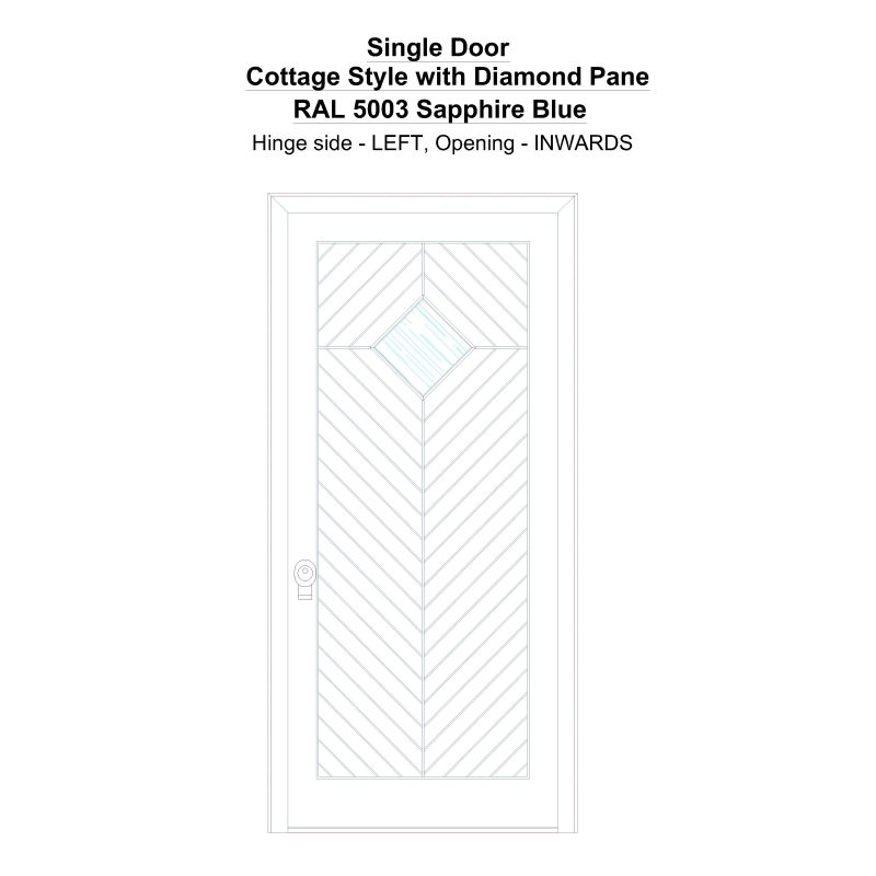 Sd Cottage Style With Diamond Pane Ral 5003 Sapphire Blue Security Door