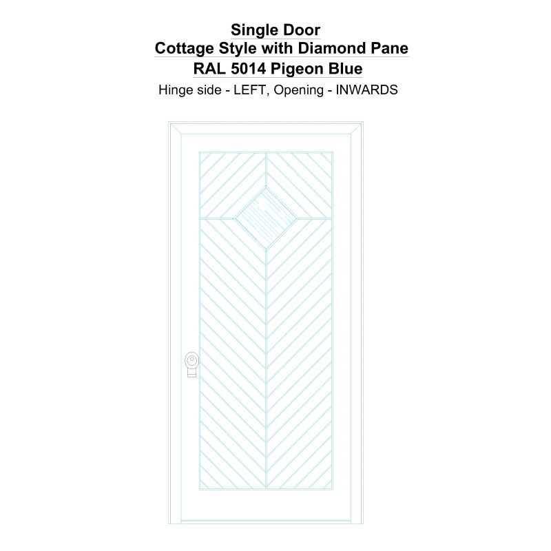 Sd Cottage Style With Diamond Pane Ral 5014 Pigeon Blue Security Door