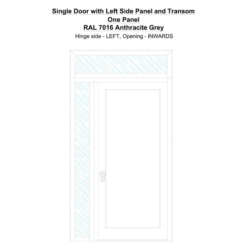 Sd1spt(left) One Panel Ral 7016 Anthracite Grey Security Door