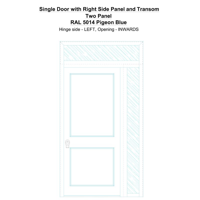 Sd1spt(right) Two Panel Ral 5014 Pigeon Blue Security Door