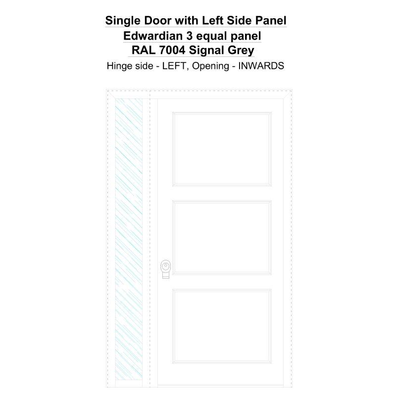 Sd1sp(left) Edwardian 3 Equal Panel Ral 7004 Signal Grey Security Door