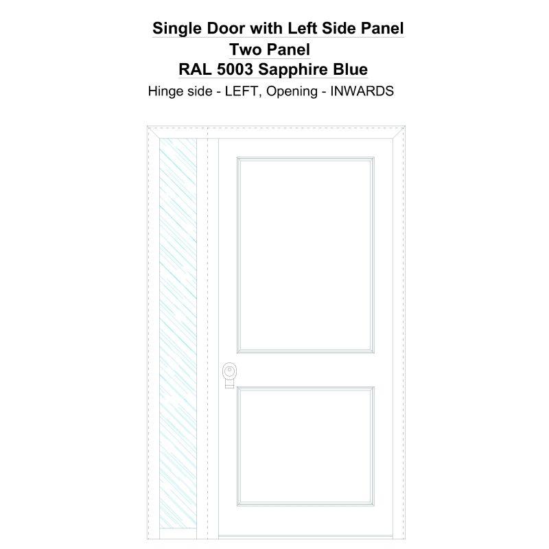 Sd1sp(left) Two Panel Ral 5003 Sapphire Blue Security Door