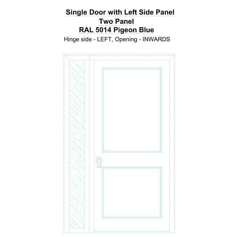 Sd1sp(left) Two Panel Ral 5014 Pigeon Blue Security Door