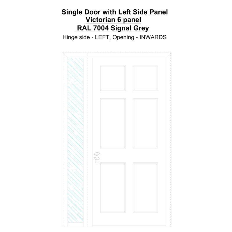Sd1sp(left) Victorian 6 Panel Ral 7004 Signal Grey Security Door