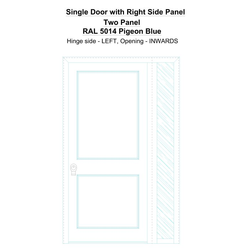 Sd1sp(right) Two Panel Ral 5014 Pigeon Blue Security Door