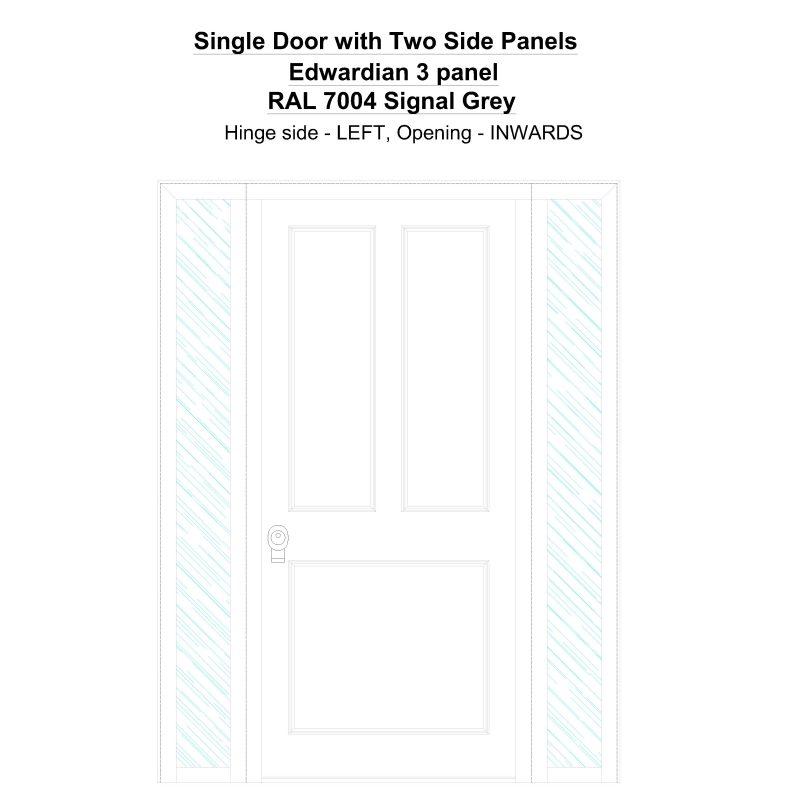Sd2sp Edwardian 3 Panel Ral 7004 Signal Grey Security Door