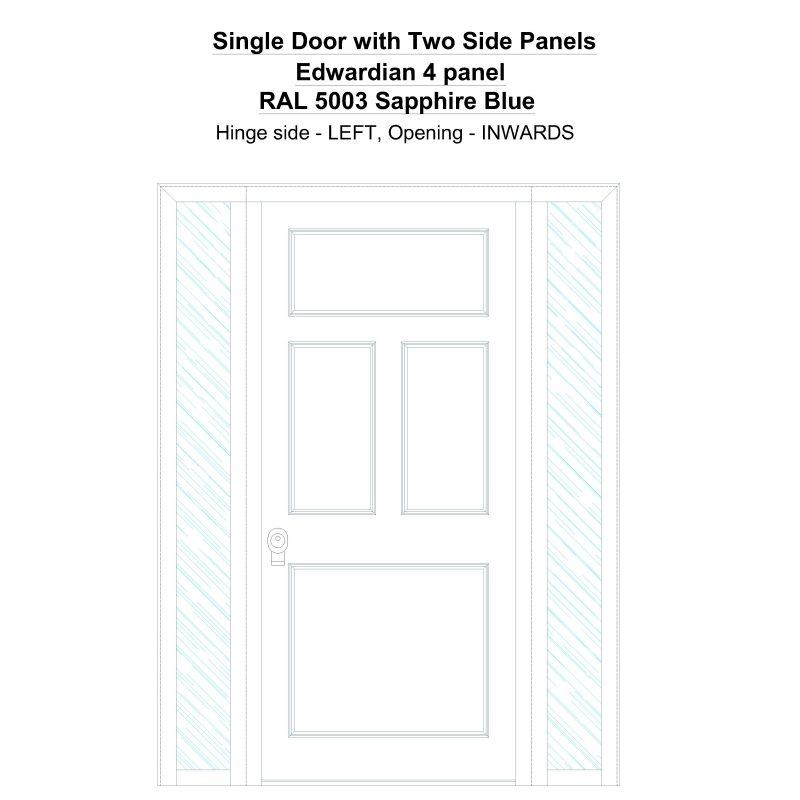 Sd2sp Edwardian 4 Panel Ral 5003 Sapphire Blue Security Door