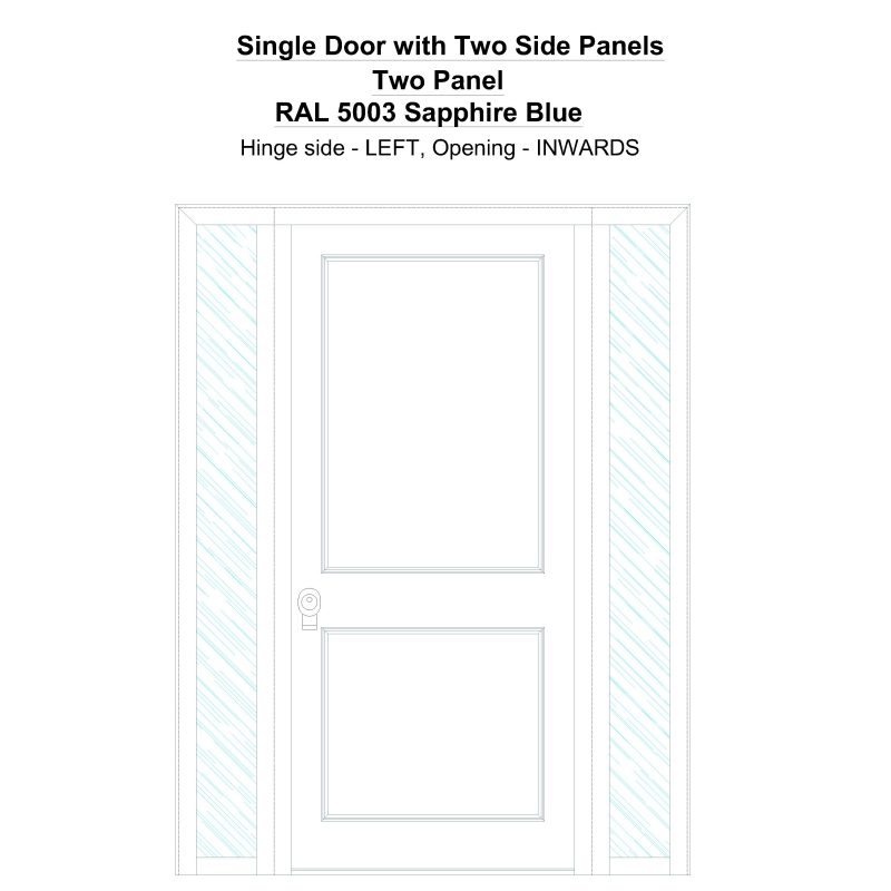 Sd2sp Two Panel Ral 5003 Sapphire Blue Security Door