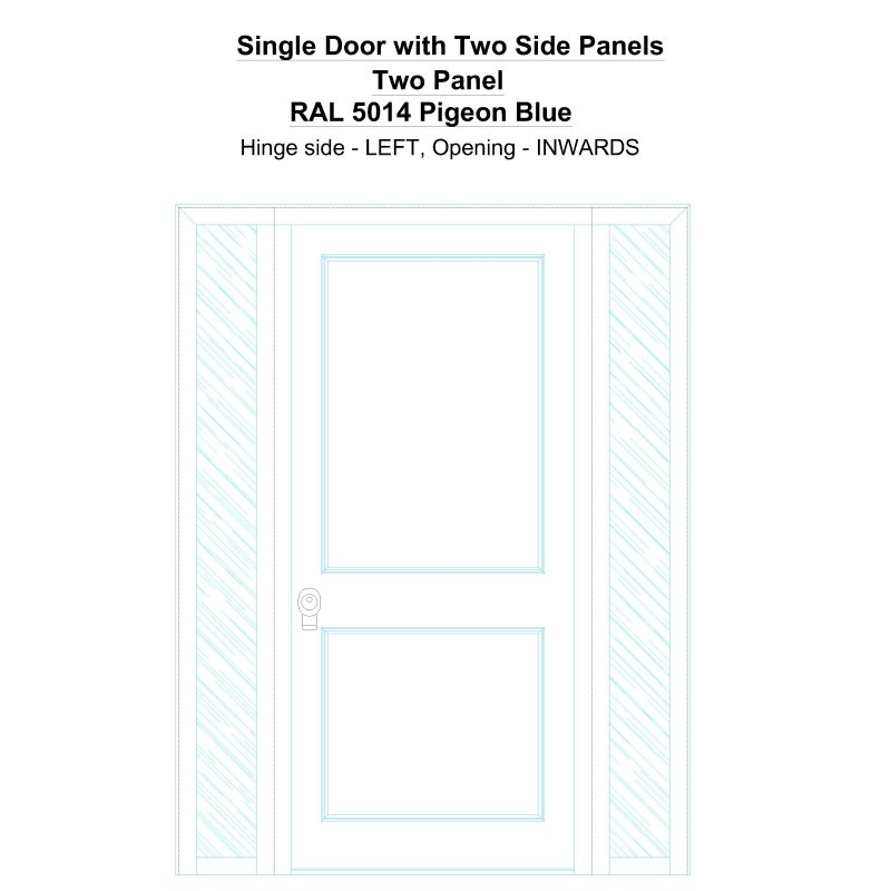 Sd2sp Two Panel Ral 5014 Pigeon Blue Security Door