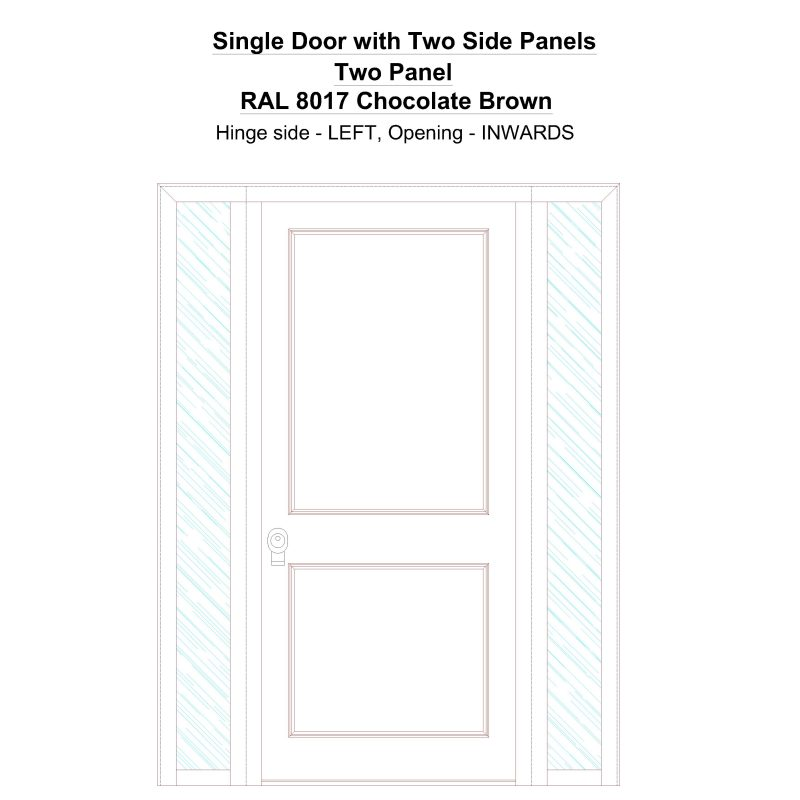 Sd2sp Two Panel Ral 8017 Chocolate Brown Security Door