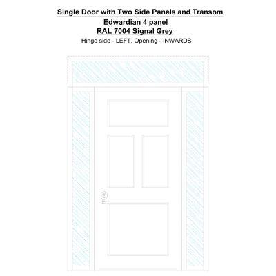 Sd2spt Edwardian 4 Panel Ral 7004 Signal Grey Security Door