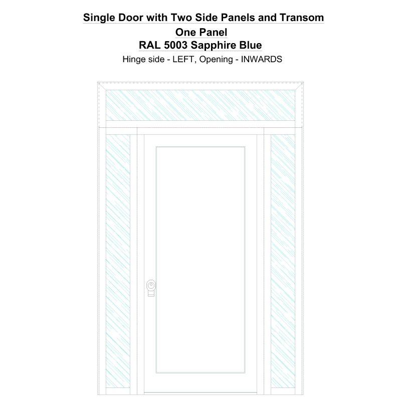 Sd2spt One Panel Ral 5003 Sapphire Blue Security Door