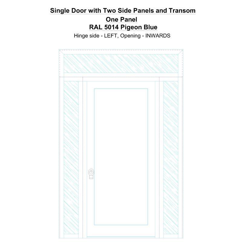 Sd2spt One Panel Ral 5014 Pigeon Blue Security Door