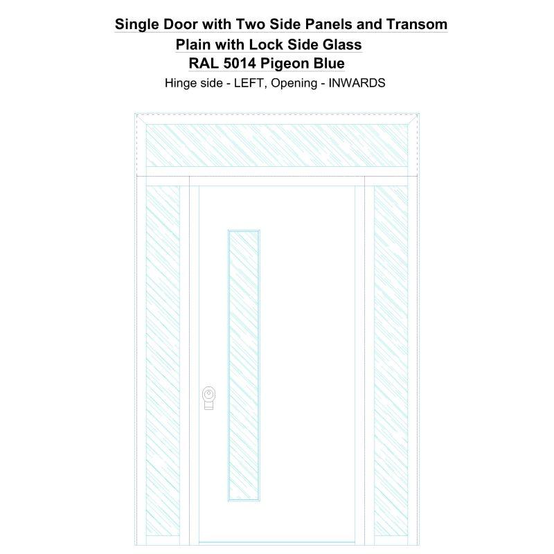 Sd2spt Plain Ral 5014 Pigeon Blue Security Door