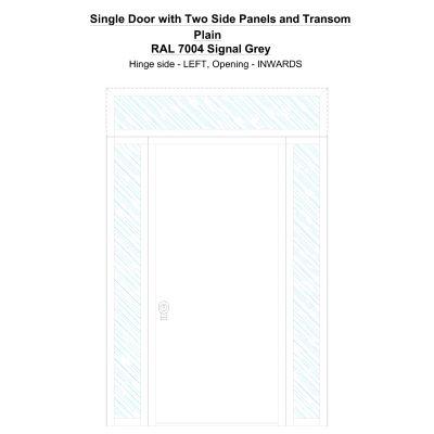 Sd2spt Plain Ral 7004 Signal Grey Security Door