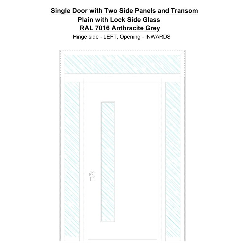 Sd2spt Plain With Lock Side Ral 7016 Anthracite Grey Security Door