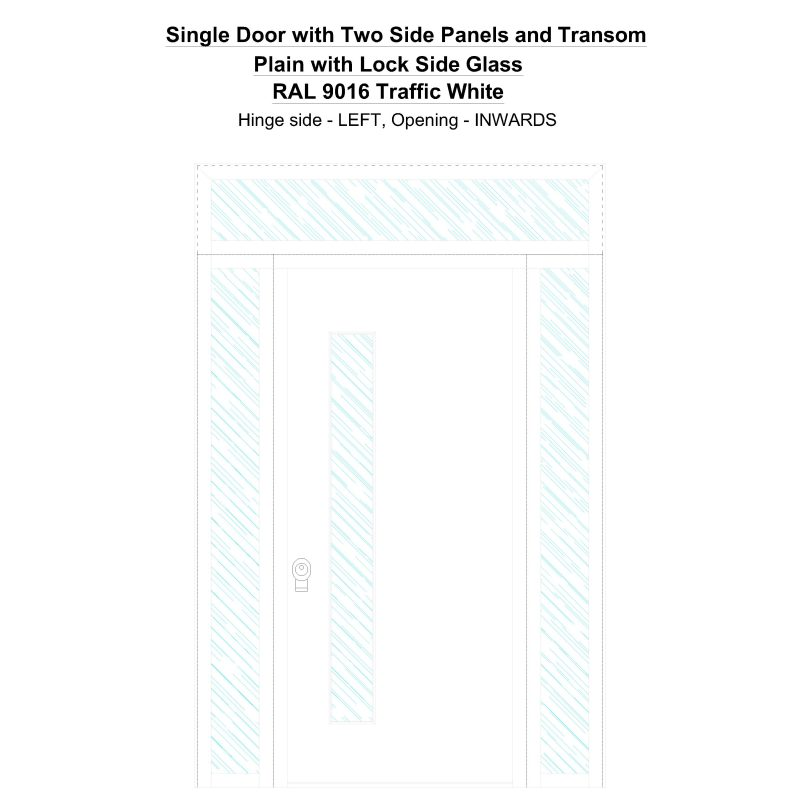Sd2spt Plain With Lock Side Ral 9016 Traffic White Security Door