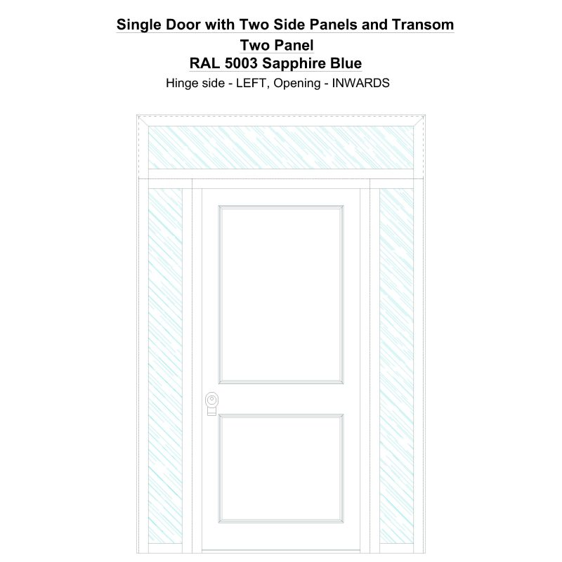 Sd2spt Two Panel Ral 5003 Sapphire Blue Security Door