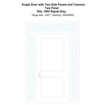 Sd2spt Two Panel Ral 7004 Signal Grey Security Door