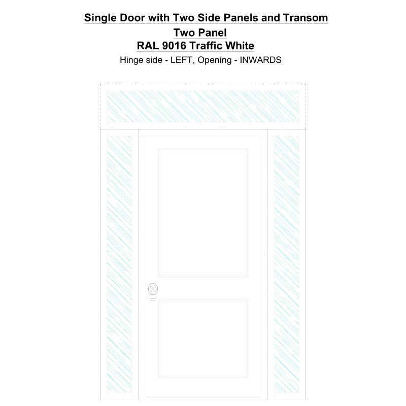 Sd2spt Two Panel Ral 9016 Traffic White Security Door