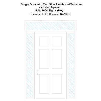 Sd2spt Victorian 6 Panel Ral 7004 Signal Grey Security Door