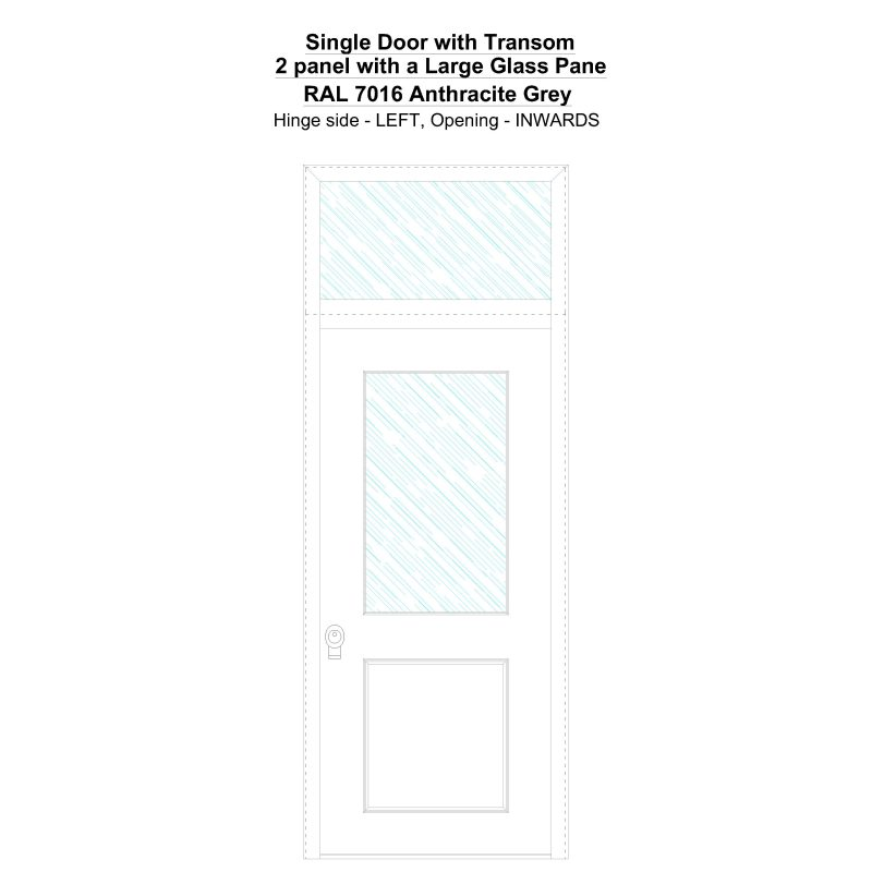 Sdt 2 Panel With A Large Glass Pane Ral 7016 Anthracite Grey Security Door