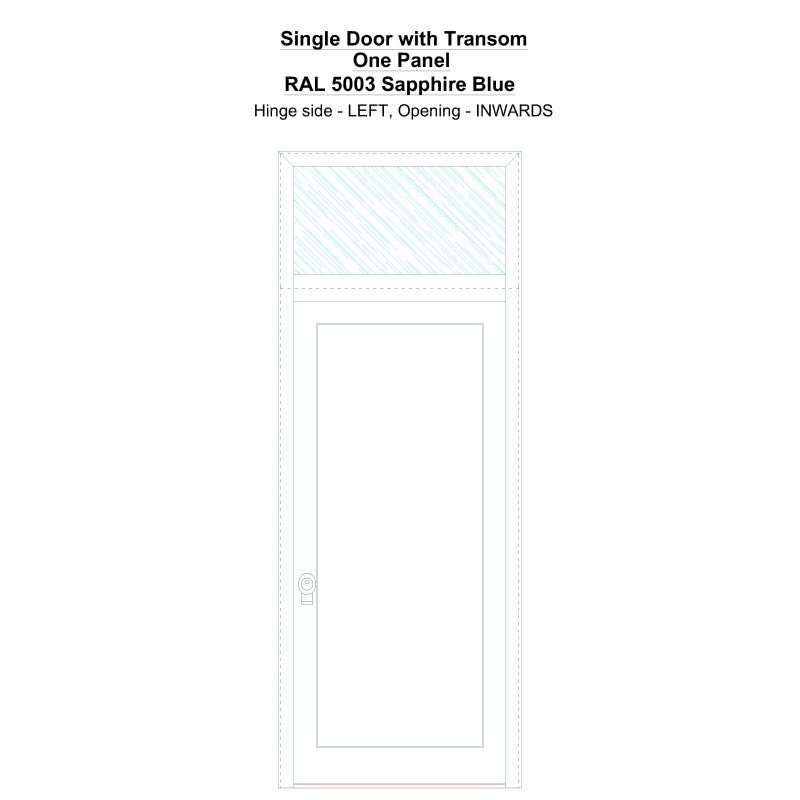 Sdt One Panel Ral 5003 Sapphire Blue Security Door