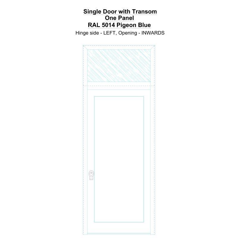 Sdt One Panel Ral 5014 Pigeon Blue Security Door