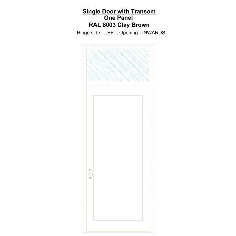 Sdt One Panel Ral 8003 Clay Brown Security Door