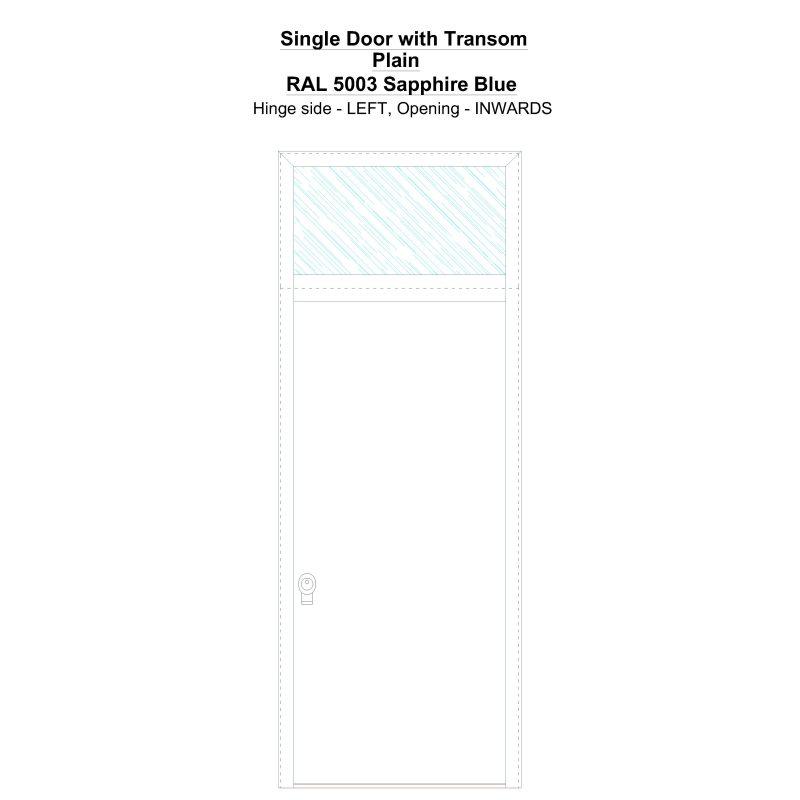 Sdt Plain Ral 5003 Sapphire Blue Security Door