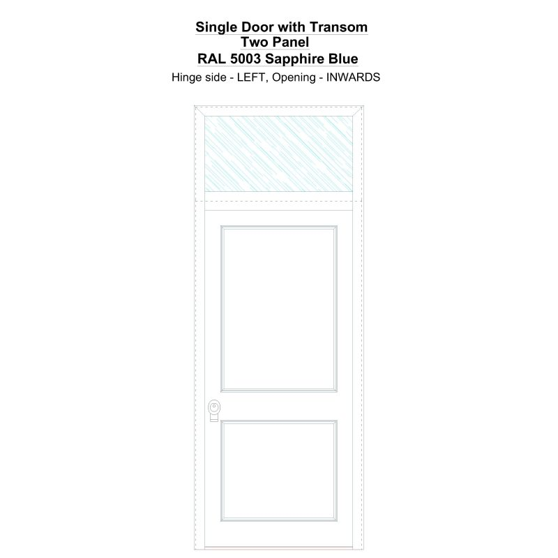 Sdt Two Panel Ral 5003 Sapphire Blue Security Door