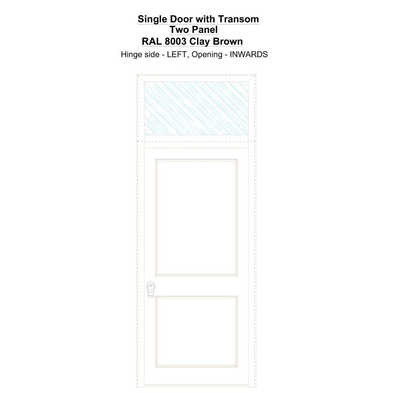 Sdt Two Panel Ral 8003 Clay Brown Security Door